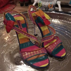 Multicolored Betsey Johnson Heels Size 8